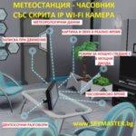 МЕТЕОСТАНЦИЯ - ЧАСОВНИК СЪС СКРИТА IP WI-FI КАМЕРА
